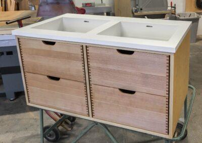 Badeværelses møbel i ask - Design Carl Schneider