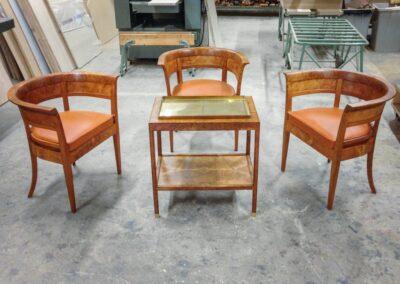 Tidlig version af Fåborgstolen m. bakkebord