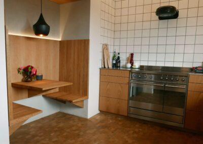 Køkken i Eg. Designet af Arkitekt Mo Krag